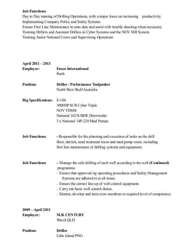 Doc engineer job mount resume surface technology