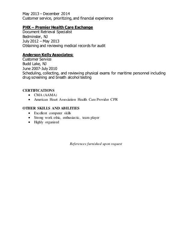 cma resume bv