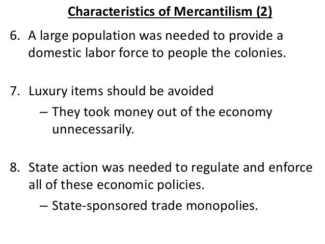 a dscussion on sowells presentation of mercantilism