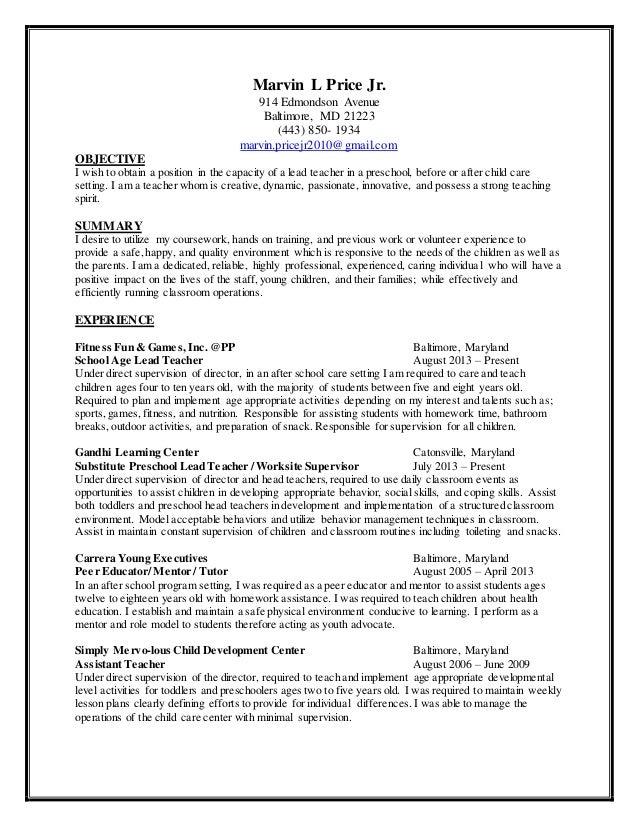 Child Care Resume Sample Child Care Resume Sample Experience Carpinteria  Rural Friedrich  Child Caregiver Resume