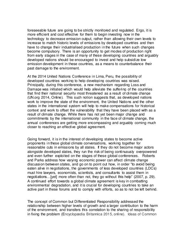 climate change high school essay