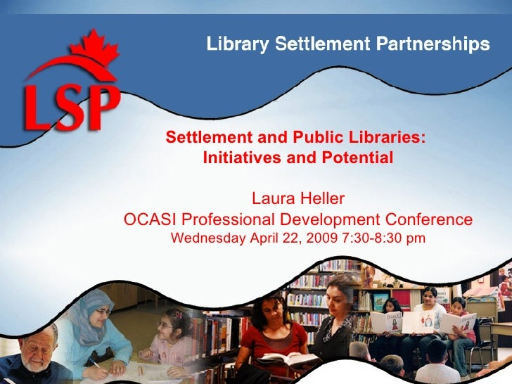 Settlement and Public Libraries:                             Titulo de          Initiatives and Potential                 ...
