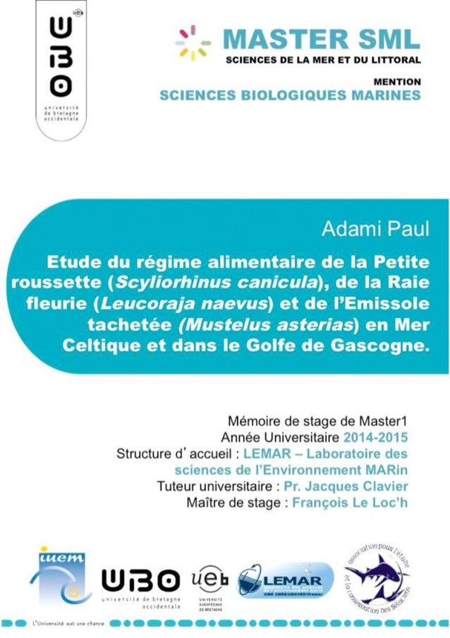 Sommaire Introduction 1 Matériels et Méthodes 3 Espèces étudiées 3 Zone d'étude 3 Traitement en laboratoire 4 Analyse des ...