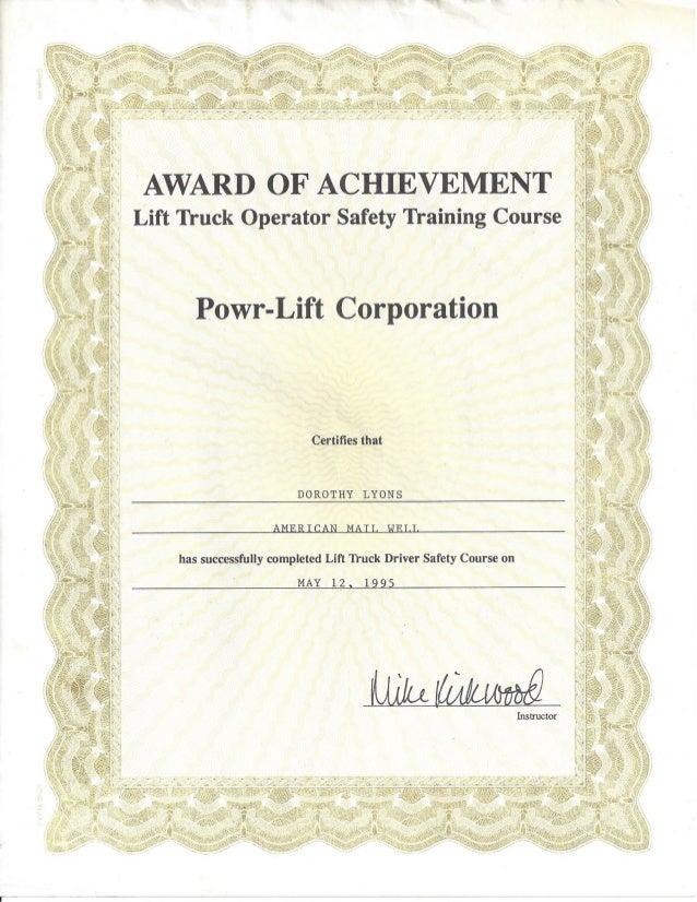 Powr-Lift - Award