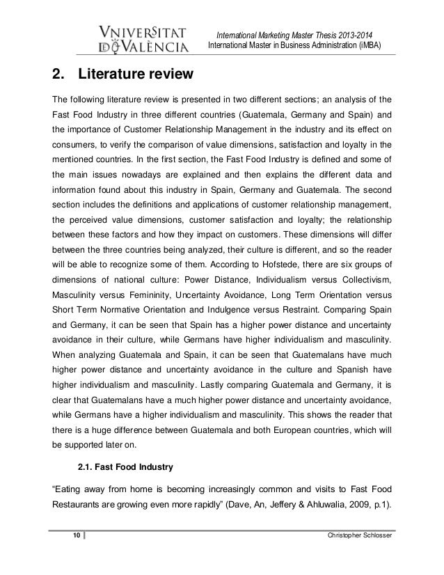 master thesis review