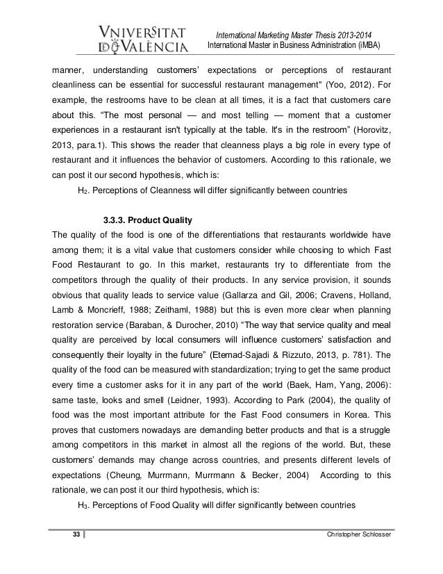 International management marketing master thesis - Buy Original