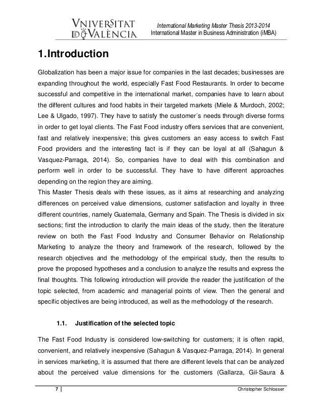 Master thesis in international relations dissertation online kiel