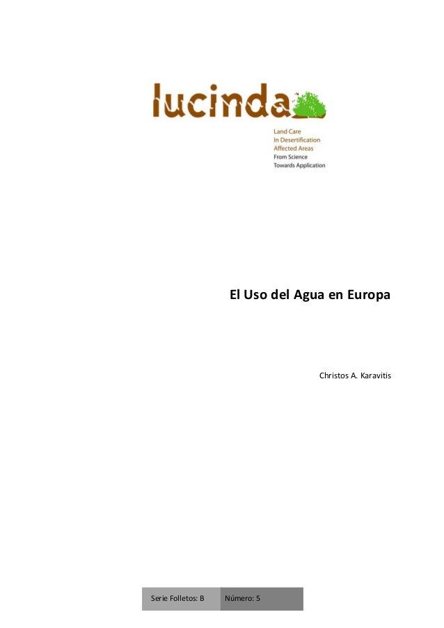 El uso del agua en Europa(Christos A. Karavitis)