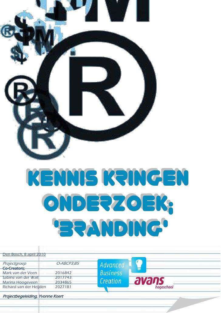 B5 Kennis Kringen Branding