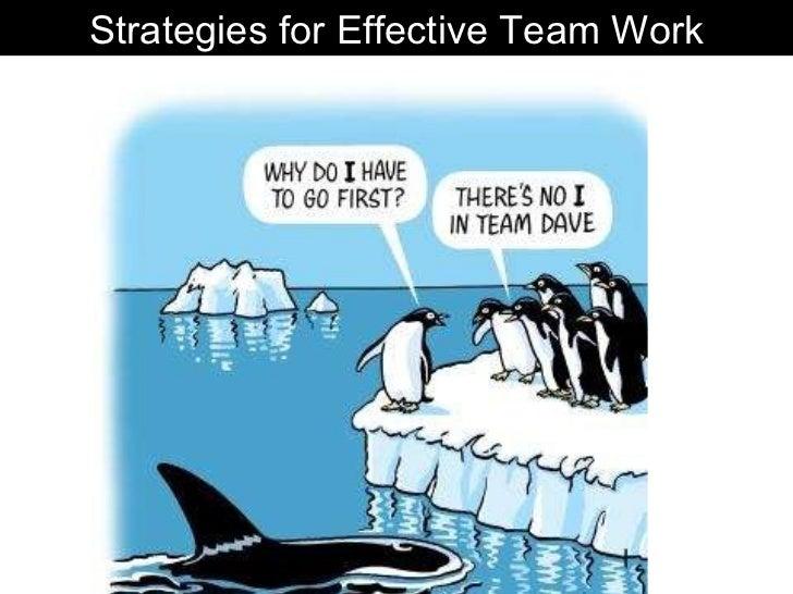 Good team strategies (Assessment 2)