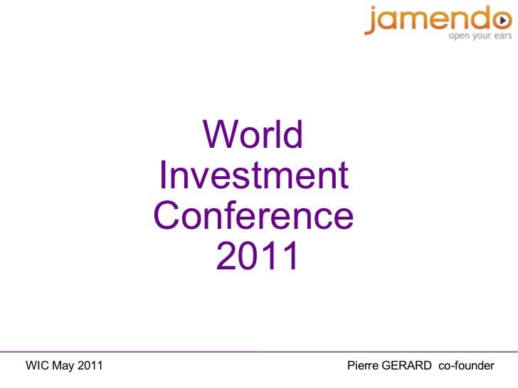 World  Investment   Conference  2011