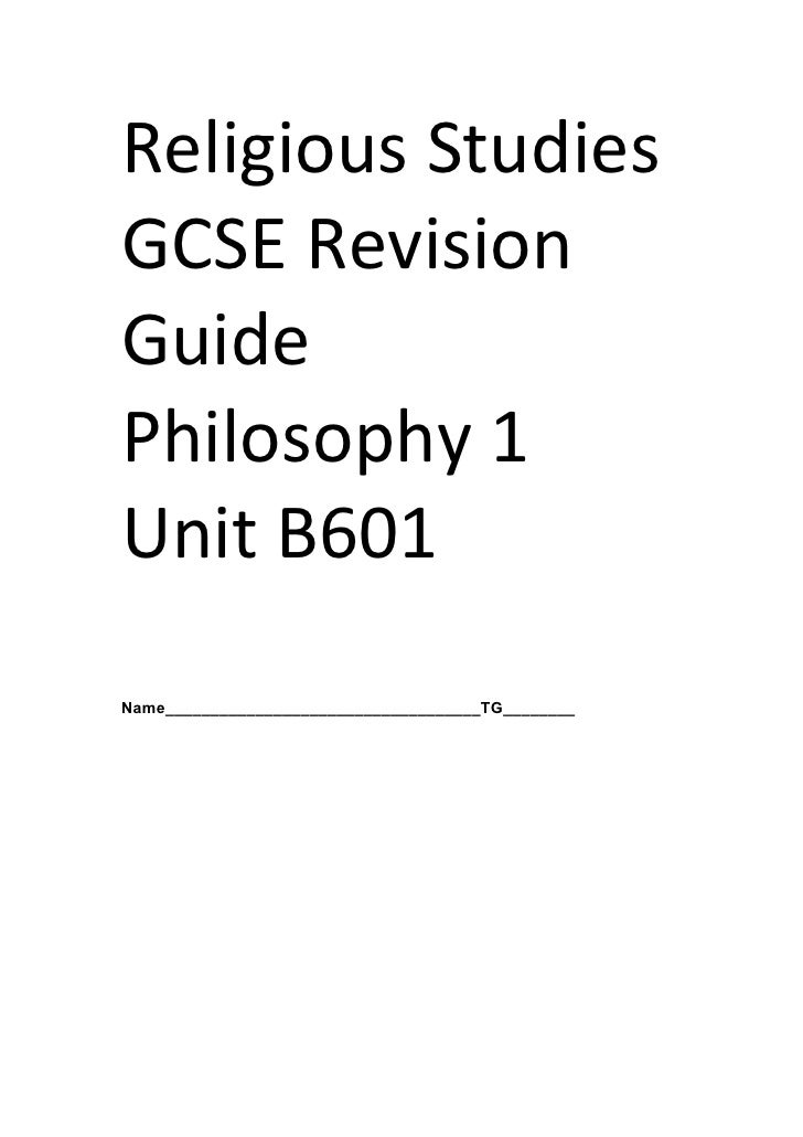 B601 Revision Booklet