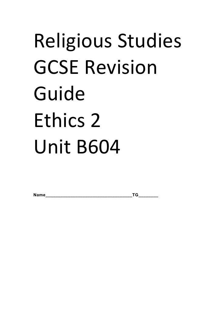 B604 Revision Booklet