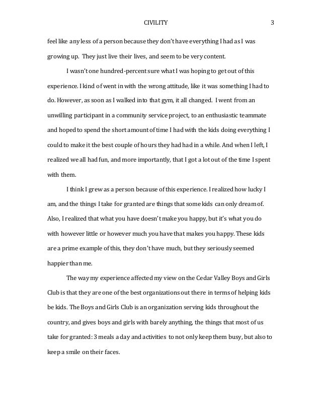 Essay on growing up