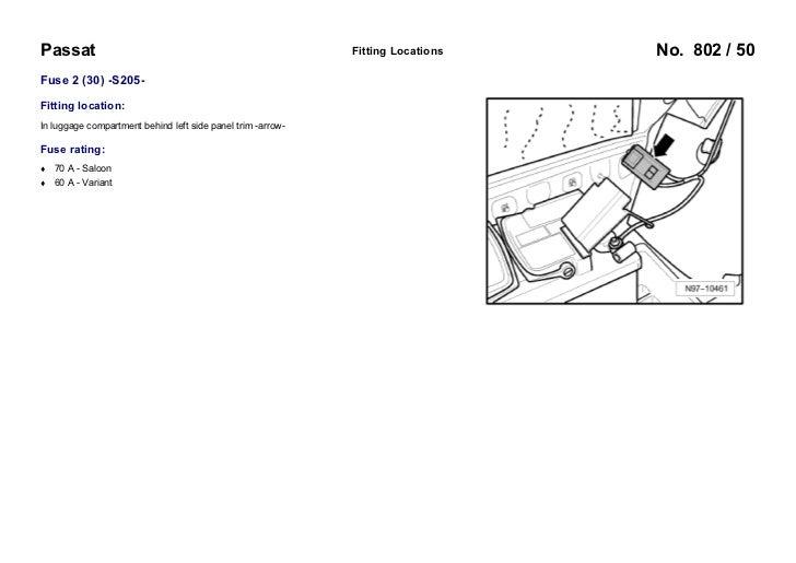 2012 volkswagen passat fuse diagram