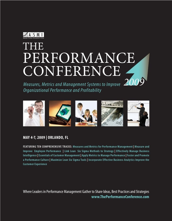 THE PERFORMANCE CONFERENCE                                                                                       2009 Meas...