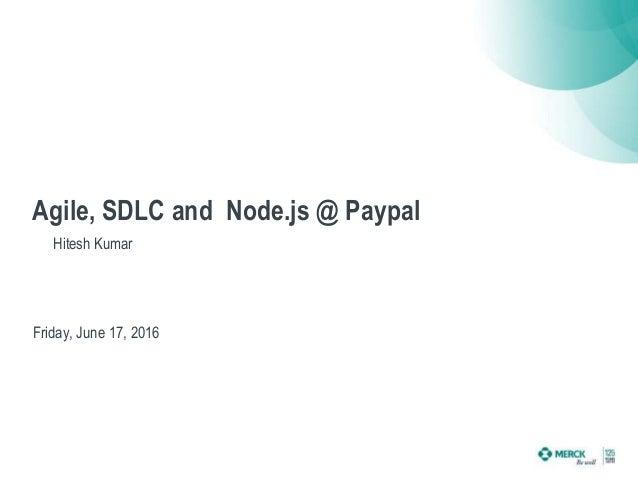 Agile sdlc for Consul node js