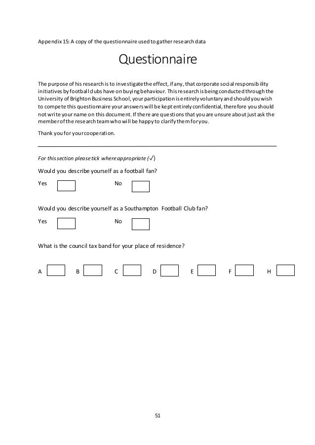 dissertation appendix questionnaire Writing a thesis paper: what to include in the appendix interview questionnaires used ewritingservice - online writing service you can trust your dissertation.