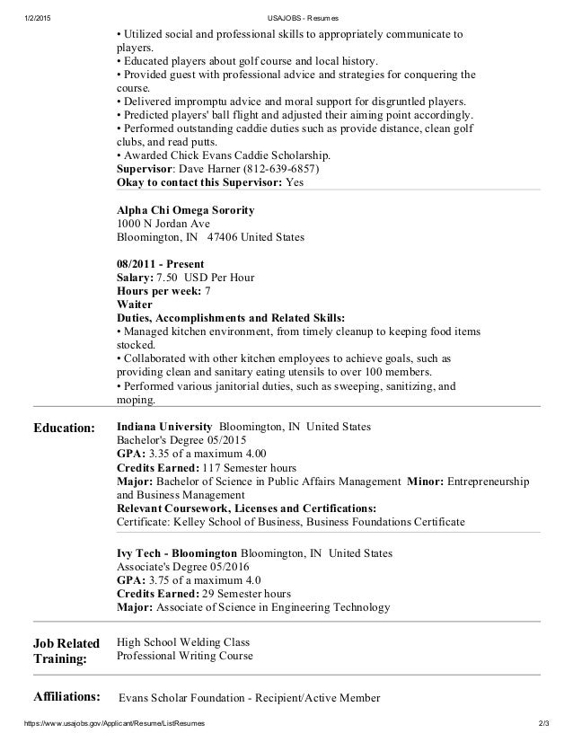 Usajobs Resume Jobs Cover Letter Federal Mfawriting760