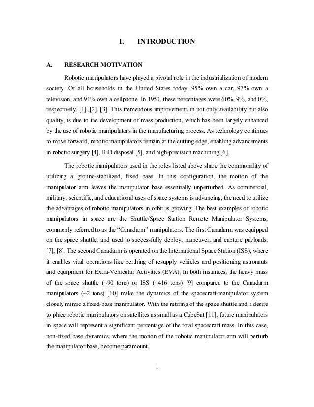 Master thesis on robotics