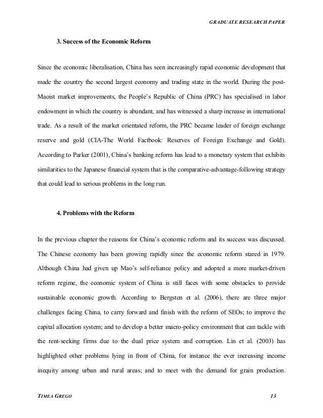 Graduate research paper
