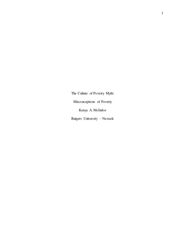 culture of poverty thesis- sociology