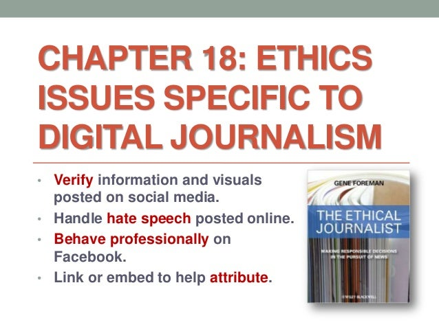 professional ethics in journalism