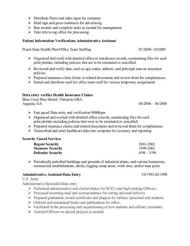 resume underwriter position
