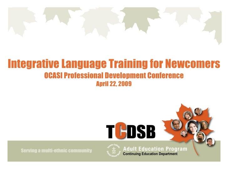 B8 Integrative Language Training for Newcomers_Frank Chu
