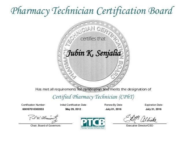 certificate ptcb pharmacy technician certification certified slideshare upcoming cpht