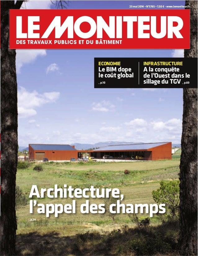 couverture € - www.lemoniteur.fr l'appel des champs_ p.24 le coût global _ p.10 A la conquête de l'Ouest dans le