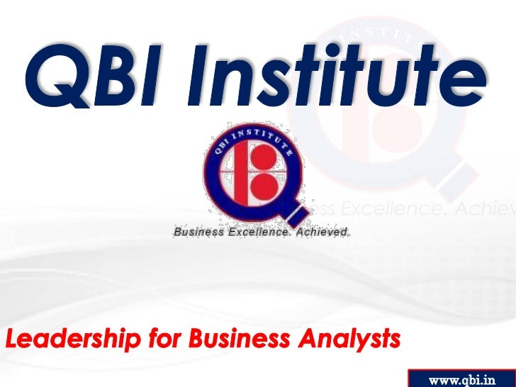 Leadership Skills for IT Business Analysts