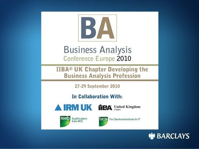 BA2010 - the Agile Analyst