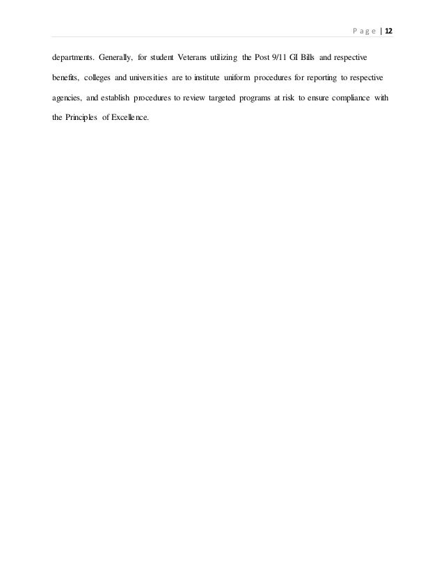 Research paper on veterans?