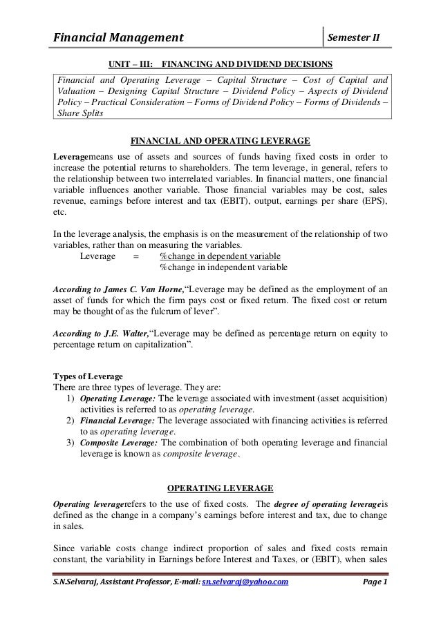 notes from text on financial management Financial management lecture notes to download free study notes cima financial management magazine you lecture notes and exercises on original text book.