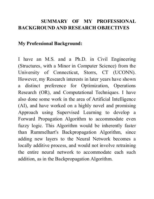 Diverse background resume