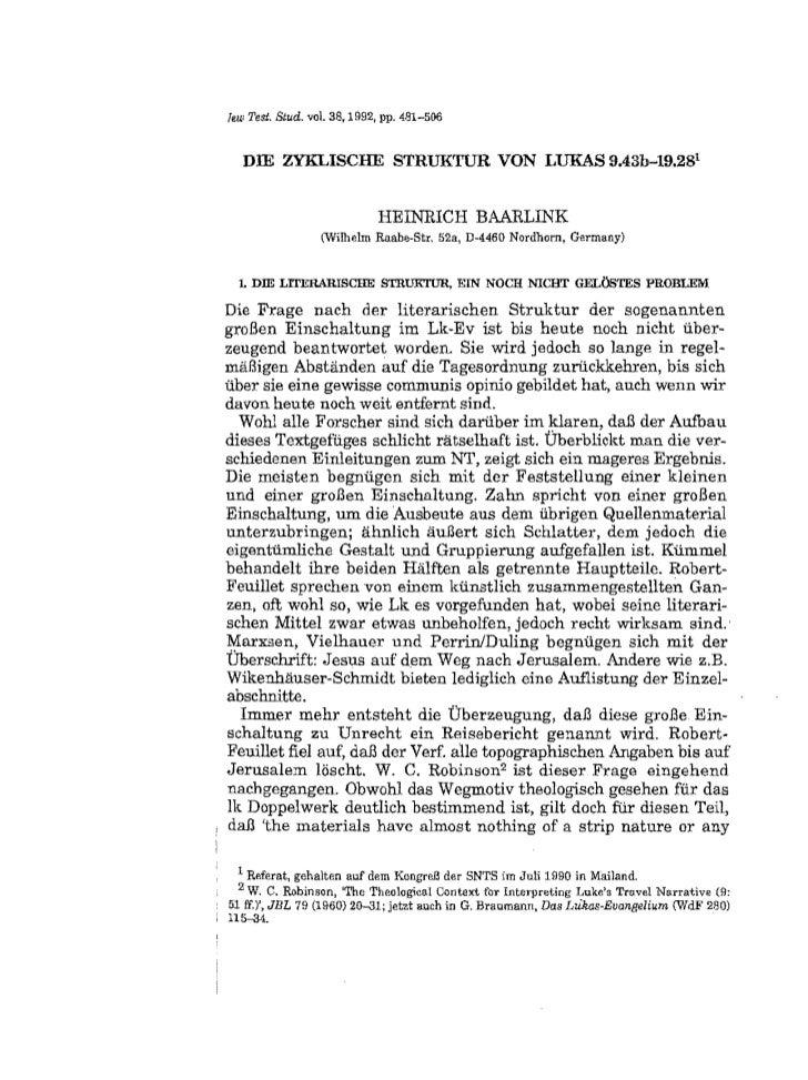lew Test. Stud. vol. 38,1992, pp. 481-500     Dill ZY:KLISCHE STRUKTUR VON LUKAS 9.43b-19.281                             ...