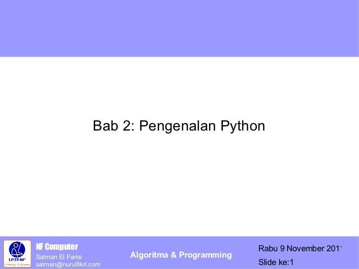 Bab 2: Pengenalan Python