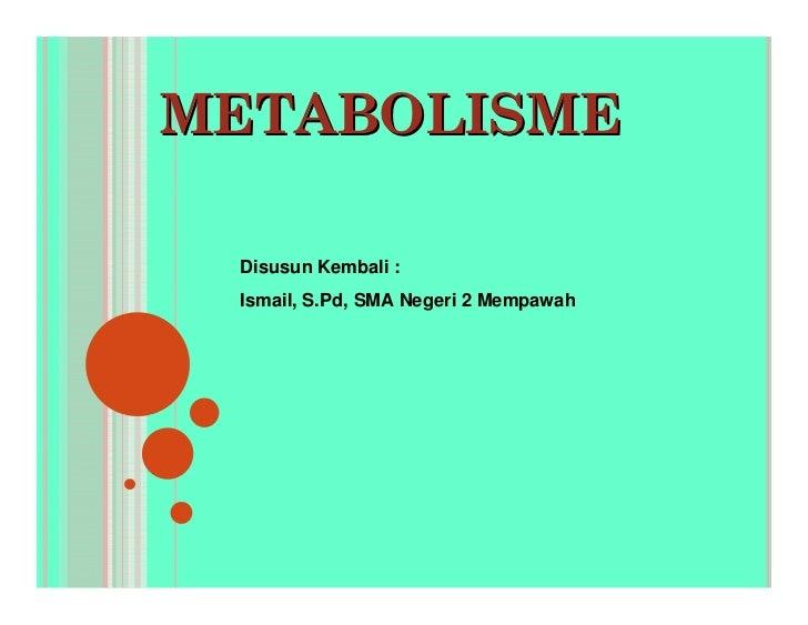 Bab 2 Metabolisme Ismail
