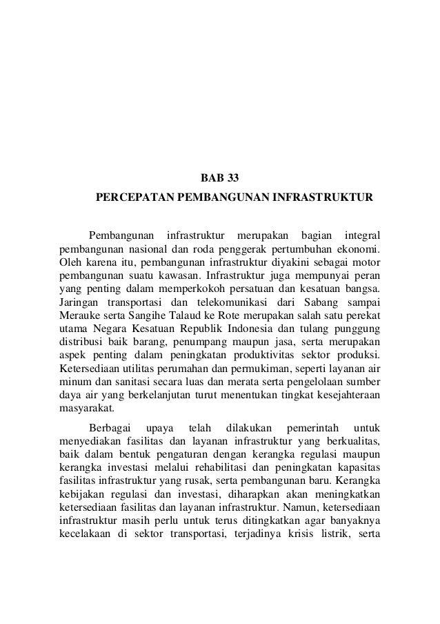 Bab 33 -percepatan pembangunan infrastruktur