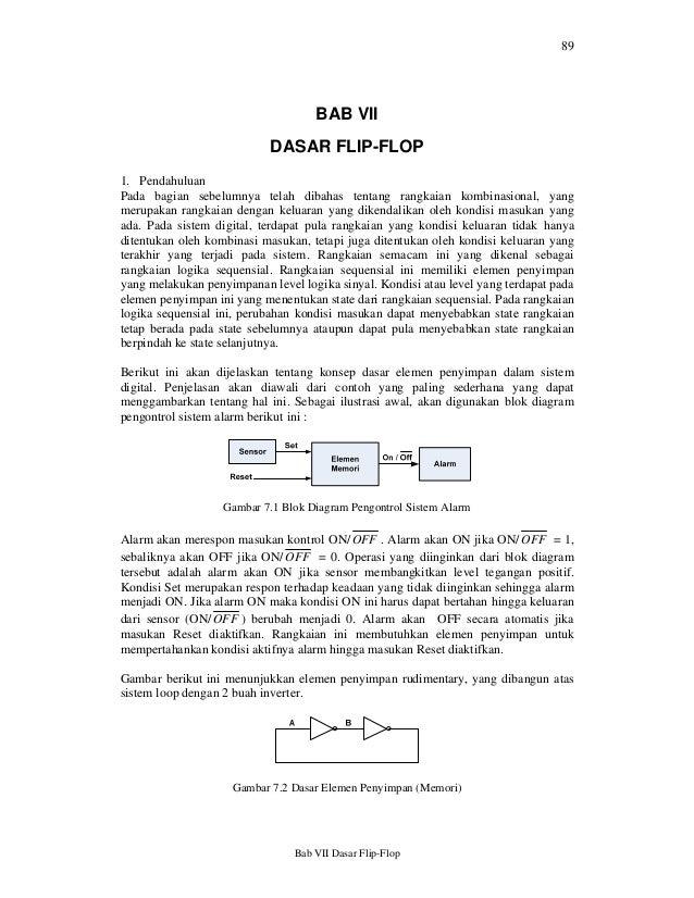 89                                    BAB VII                            DASAR FLIP-FLOP1. PendahuluanPada bagian sebelumn...