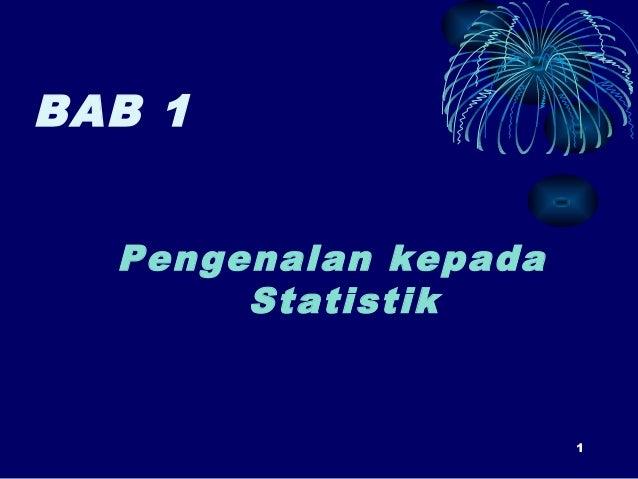 Statistik (Bab 1)
