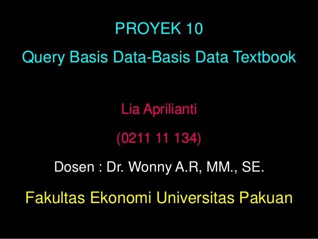 Bab 10 proyek