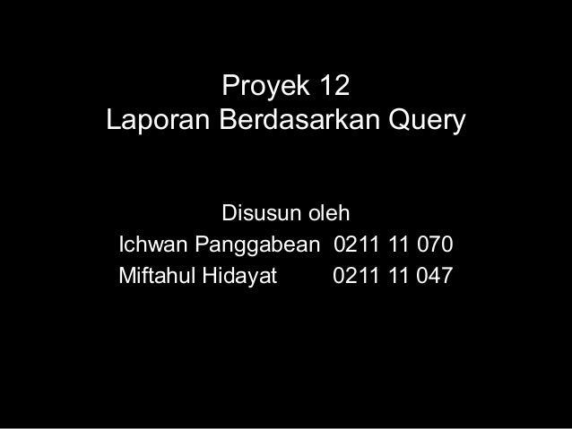 Bab 12 proyek