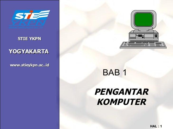 Bab 1 pengantar komputer
