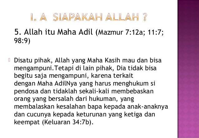Allah Maha Adil in English Allah Itu Maha Adil Mazmur