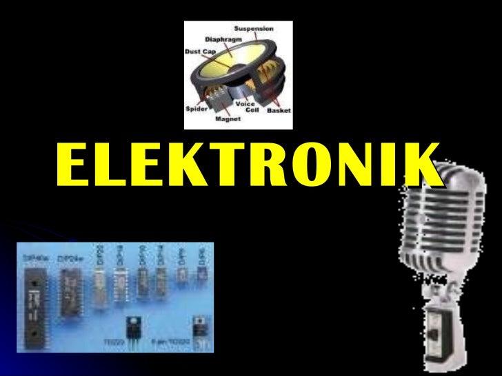 KHB TING 3 - Bab 3.1 Elektronik