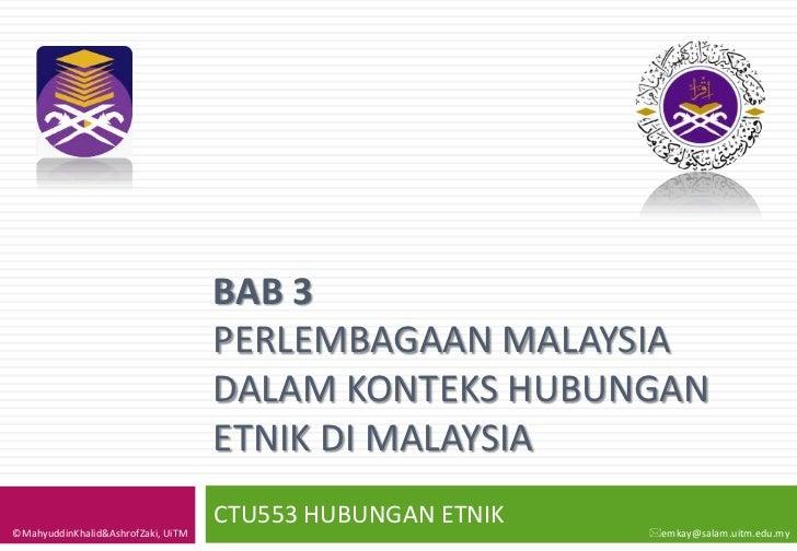 BAB 3                                    PERLEMBAGAAN MALAYSIA                                    DALAM KONTEKS HUBUNGAN  ...