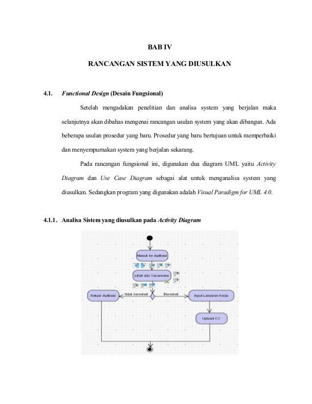 BAB IV RANCANGAN SISTEM YANG DIUSULKAN  4.1.  Functional Design (Desain Fungsional) Setelah mengadakan penelitian dan anal...