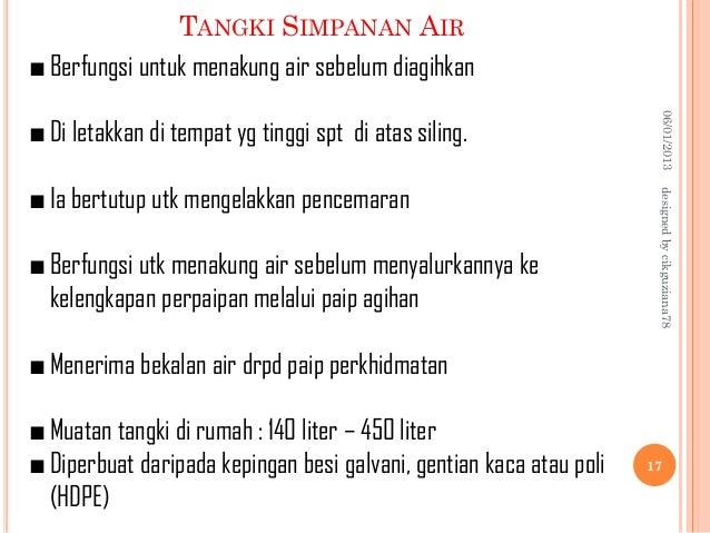 Bahagian Tangki Simpanan Air Tangki Simpanan Air 06/01/2013
